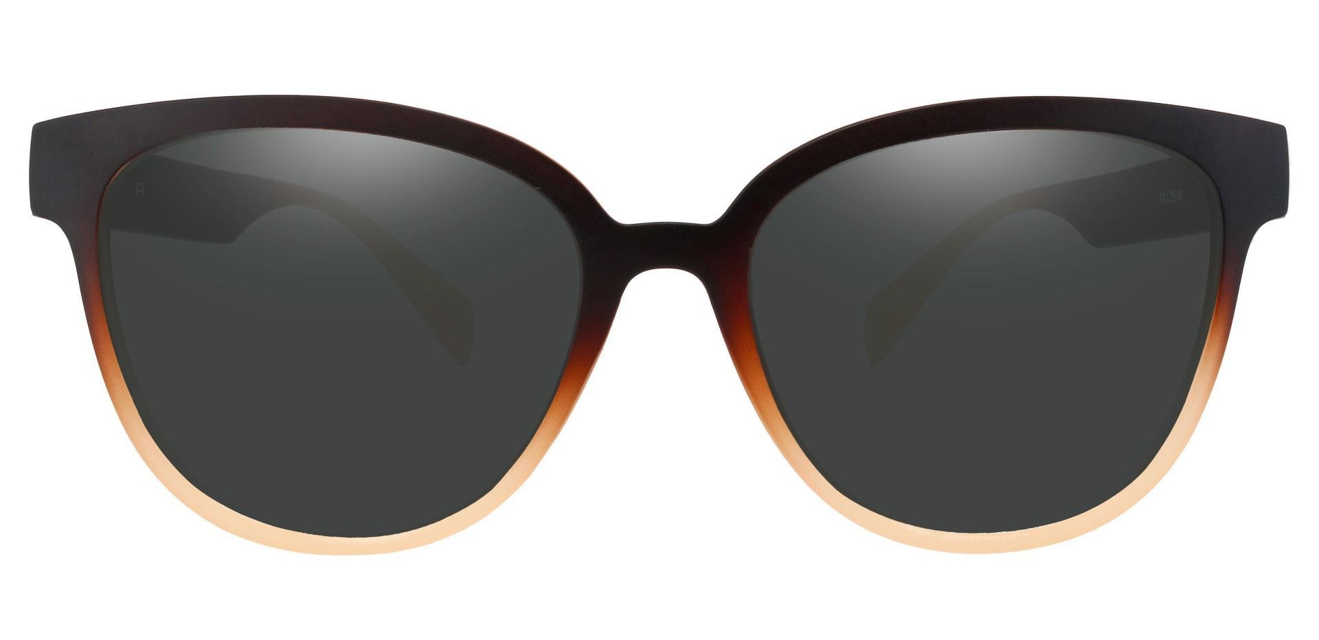 Newport Oval Lined Bifocal Sunglasses - Brown Frame With Gray Lenses