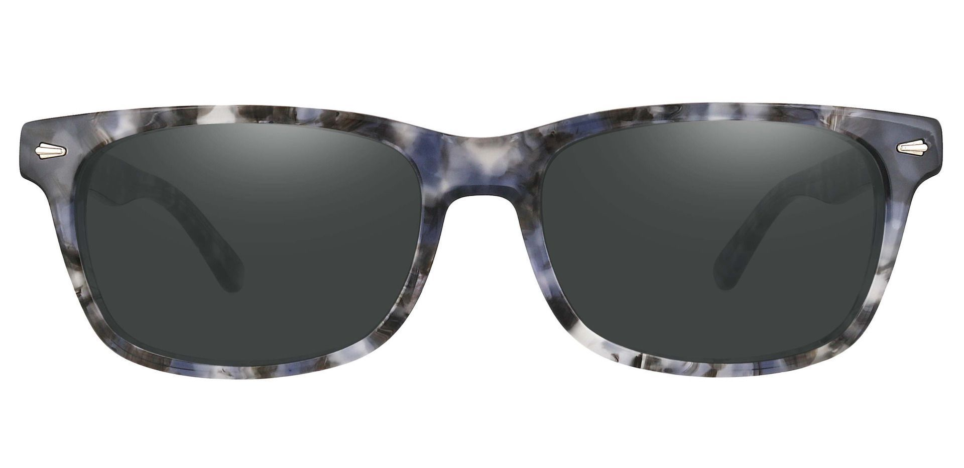 Hendrix Rectangle Progressive Sunglasses - Floral Frame With Gray Lenses