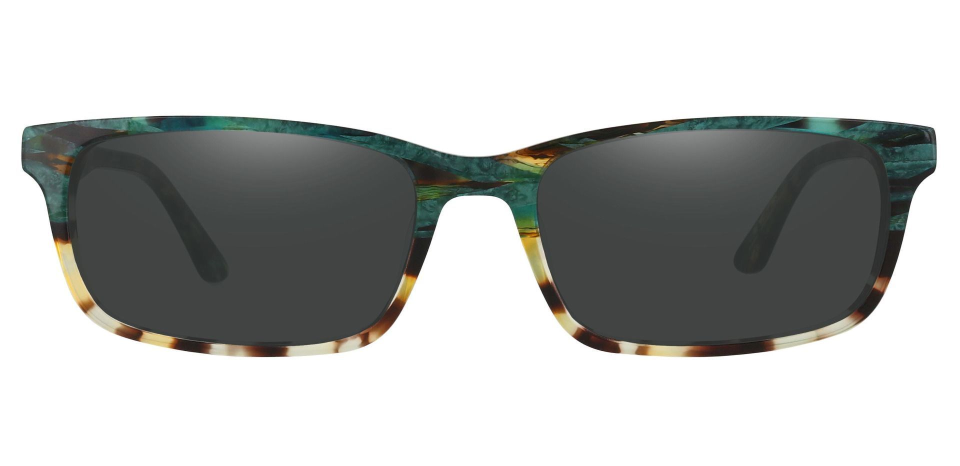 Hendrix Rectangle Lined Bifocal Sunglasses - Floral Frame With Gray Lenses