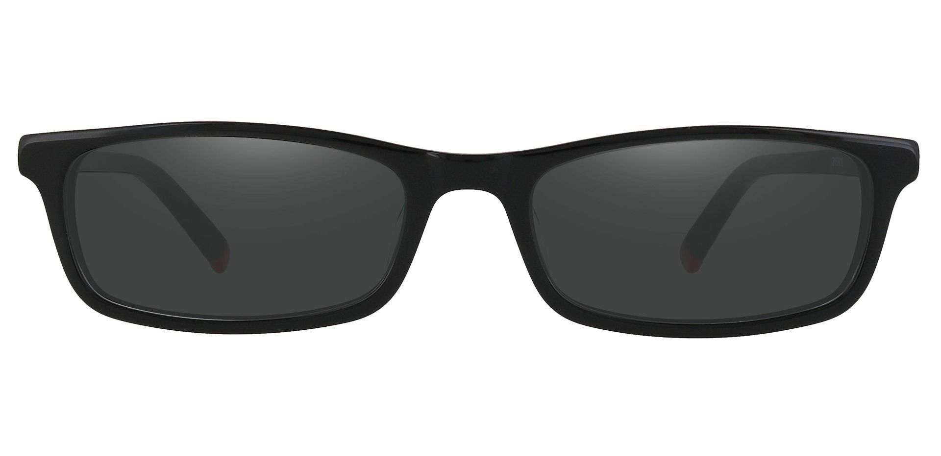 Palisades Rectangle Reading Sunglasses - Black Frame With Gray Lenses