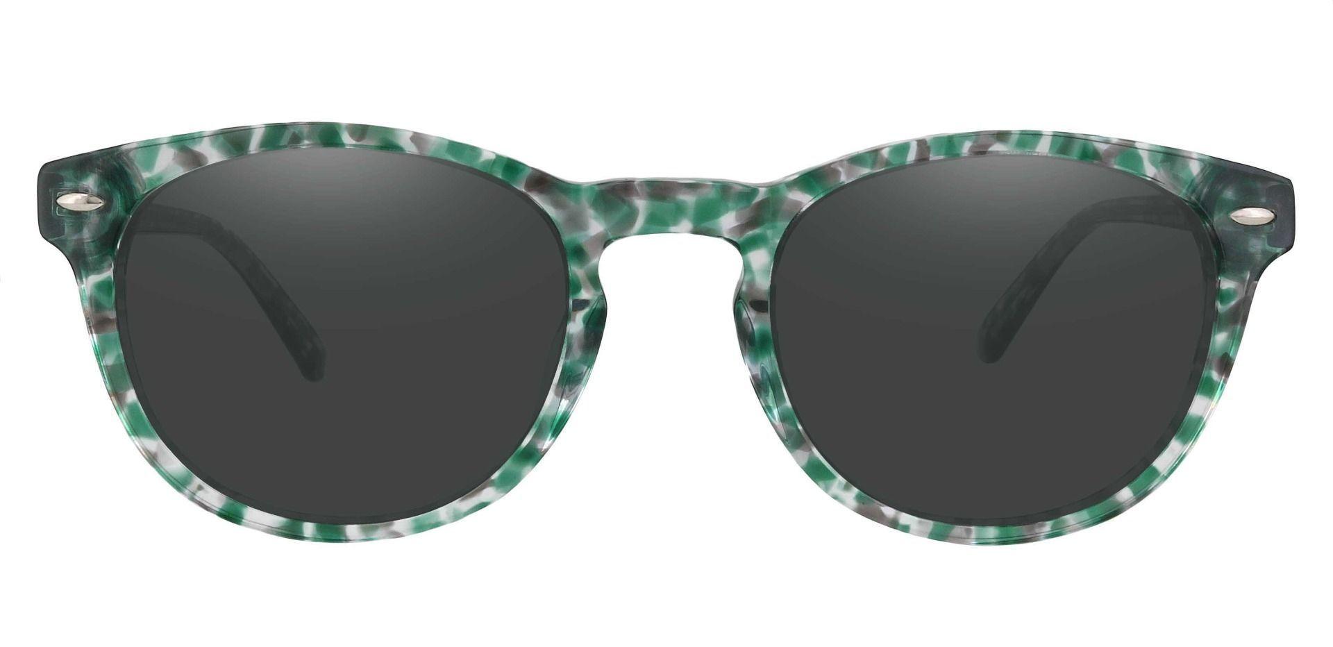 Laguna Oval Reading Sunglasses - Green Frame With Gray Lenses