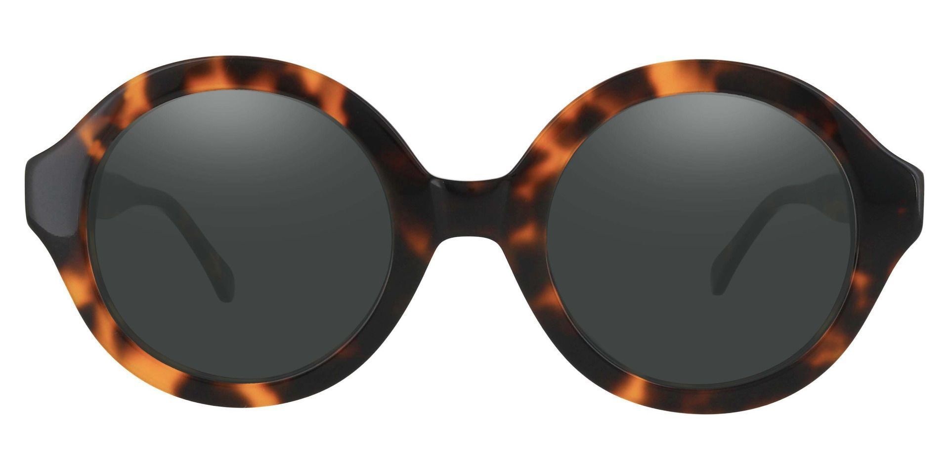 Clara Round Prescription Sunglasses - Tortoise Frame With Gray Lenses