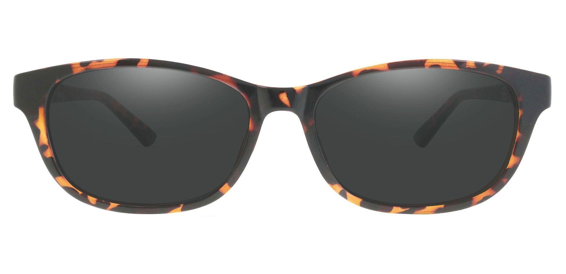 Reyna Classic Square Progressive Sunglasses - Tortoise Frame With Gray Lenses