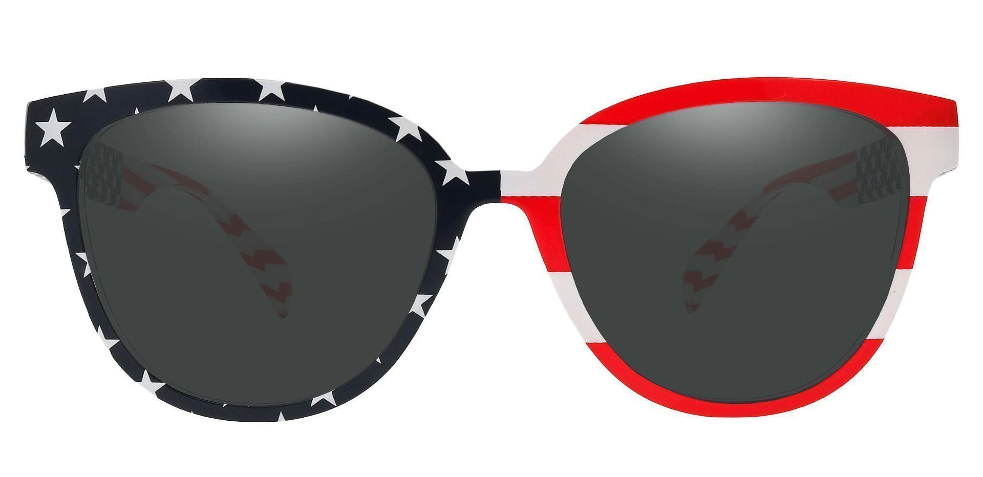 Union Square Lined Bifocal Sunglasses - Floral Frame With Gray Lenses