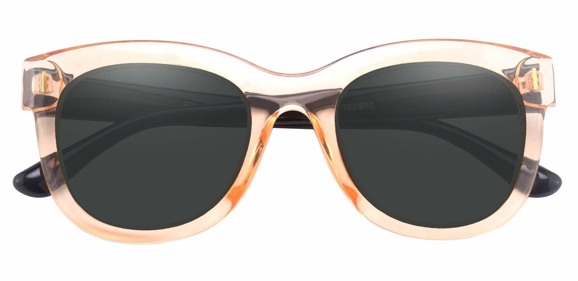 Saratoga Square Non-Rx Sunglasses - Brown Frame With Gray Lenses