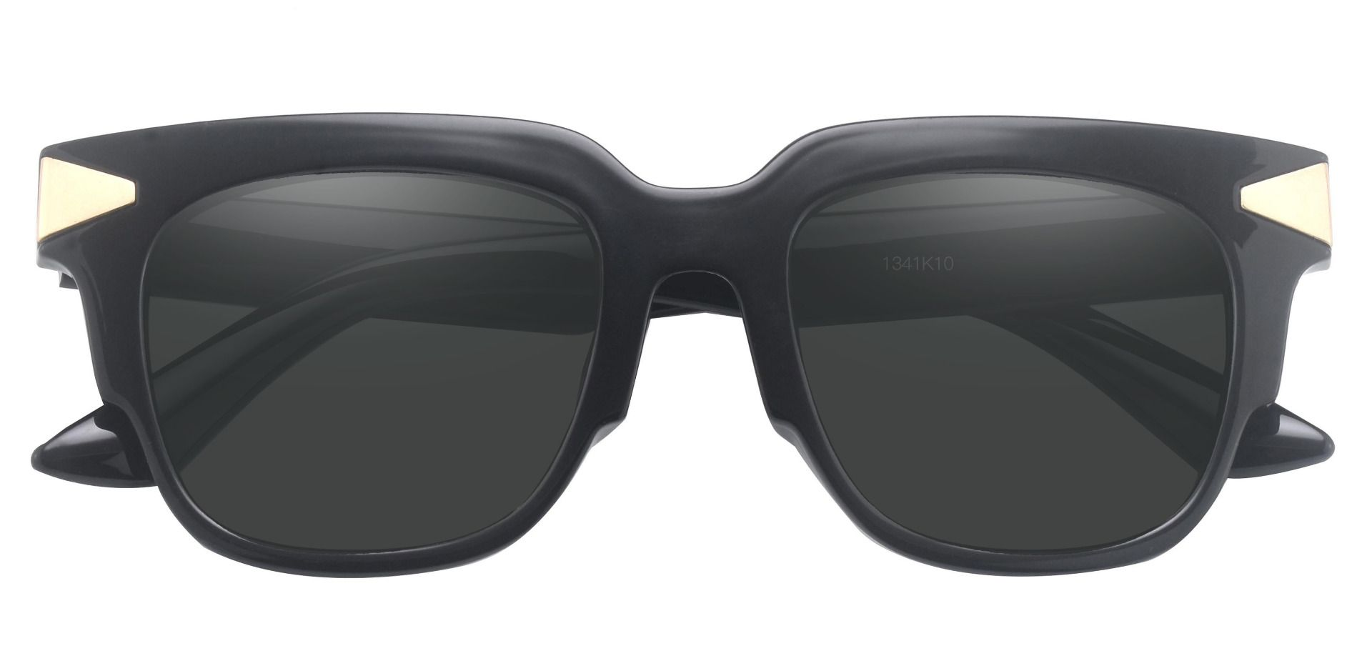 Ardent Square Prescription Sunglasses - Black Frame With Gray Lenses