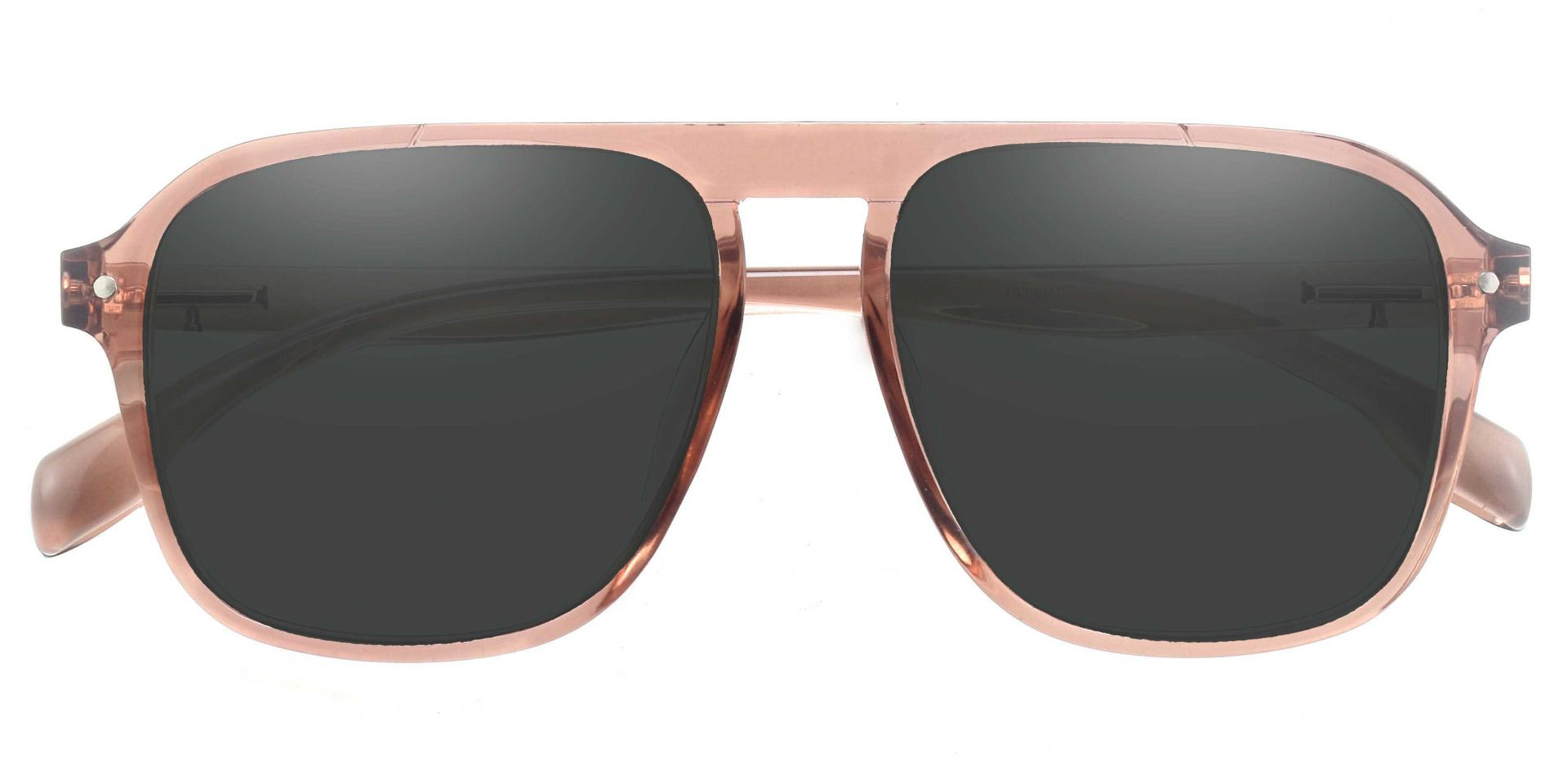 Gideon Aviator Progressive Sunglasses - Brown Frame With Gray Lenses