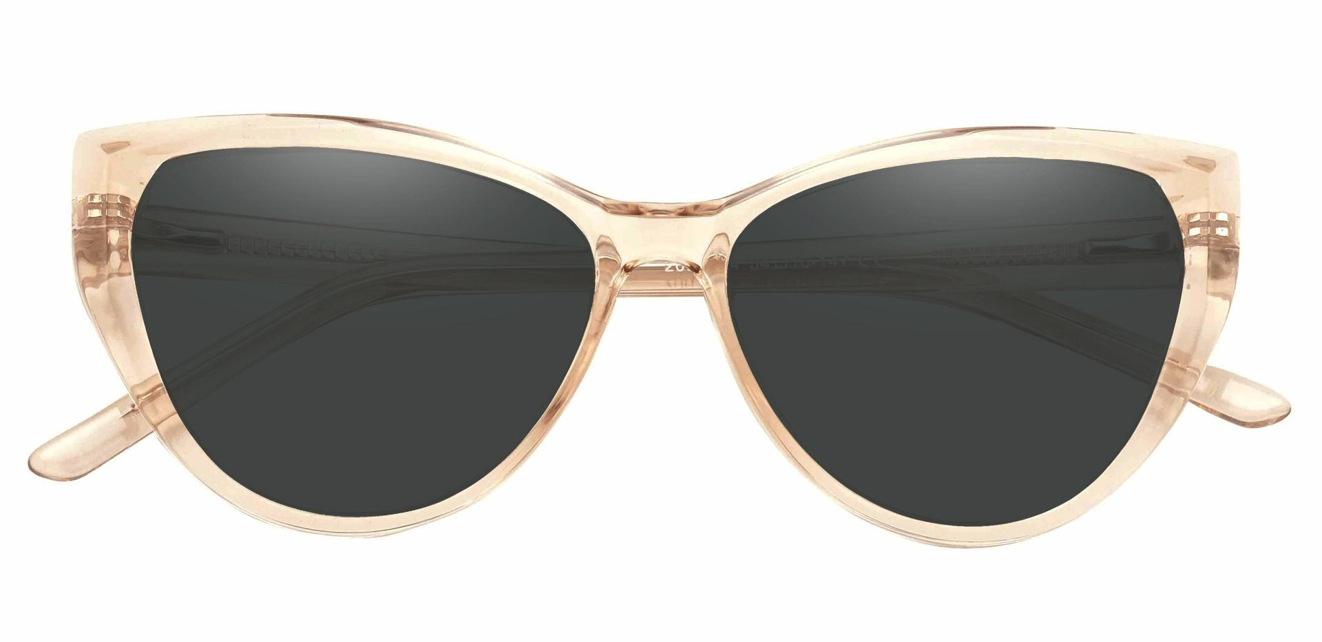 Ireland Cat Eye Lined Bifocal Sunglasses - Brown Frame With Gray Lenses