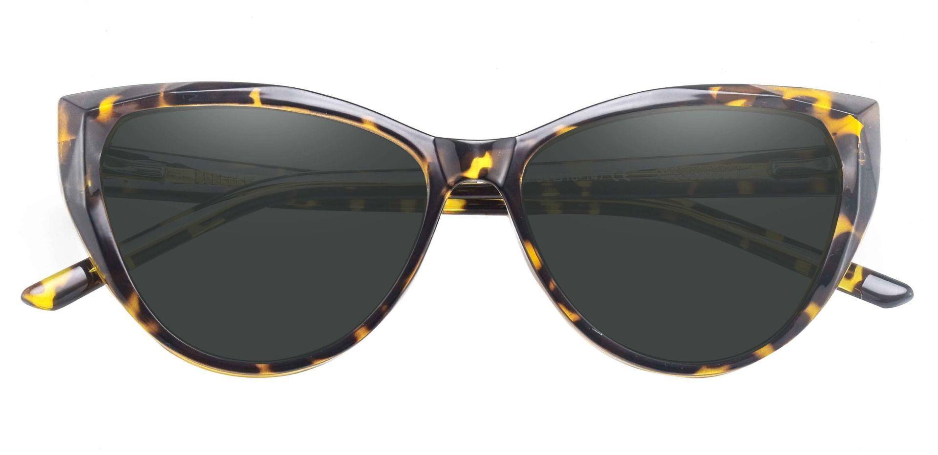 Ireland Cat Eye Reading Sunglasses - Tortoise Frame With Gray Lenses
