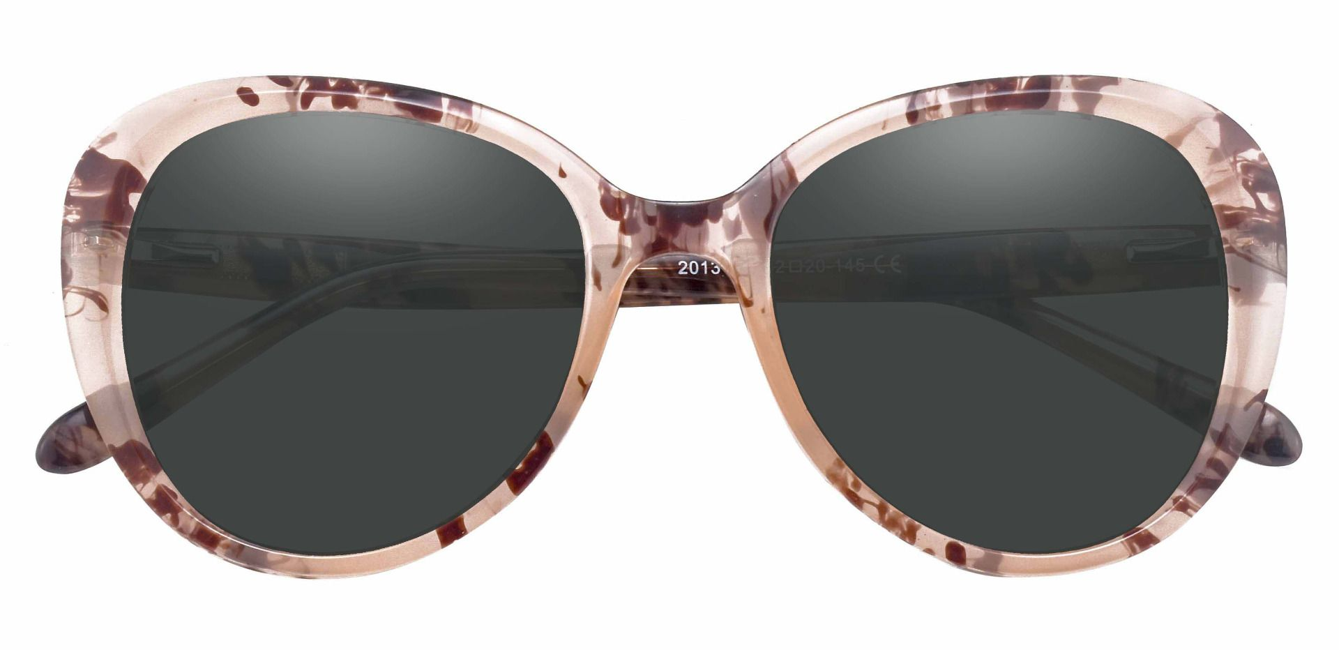 Sheridan Oval Prescription Sunglasses - Floral Frame With Gray Lenses