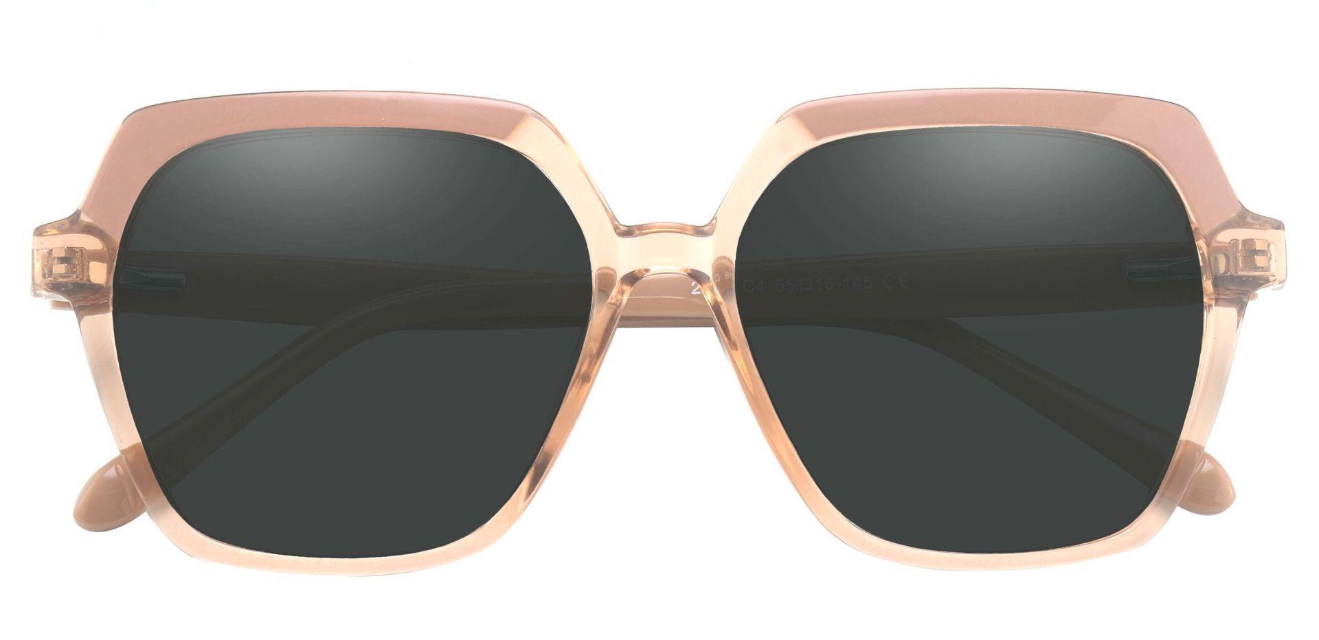 Regent Geometric Progressive Sunglasses - Brown Frame With Gray Lenses