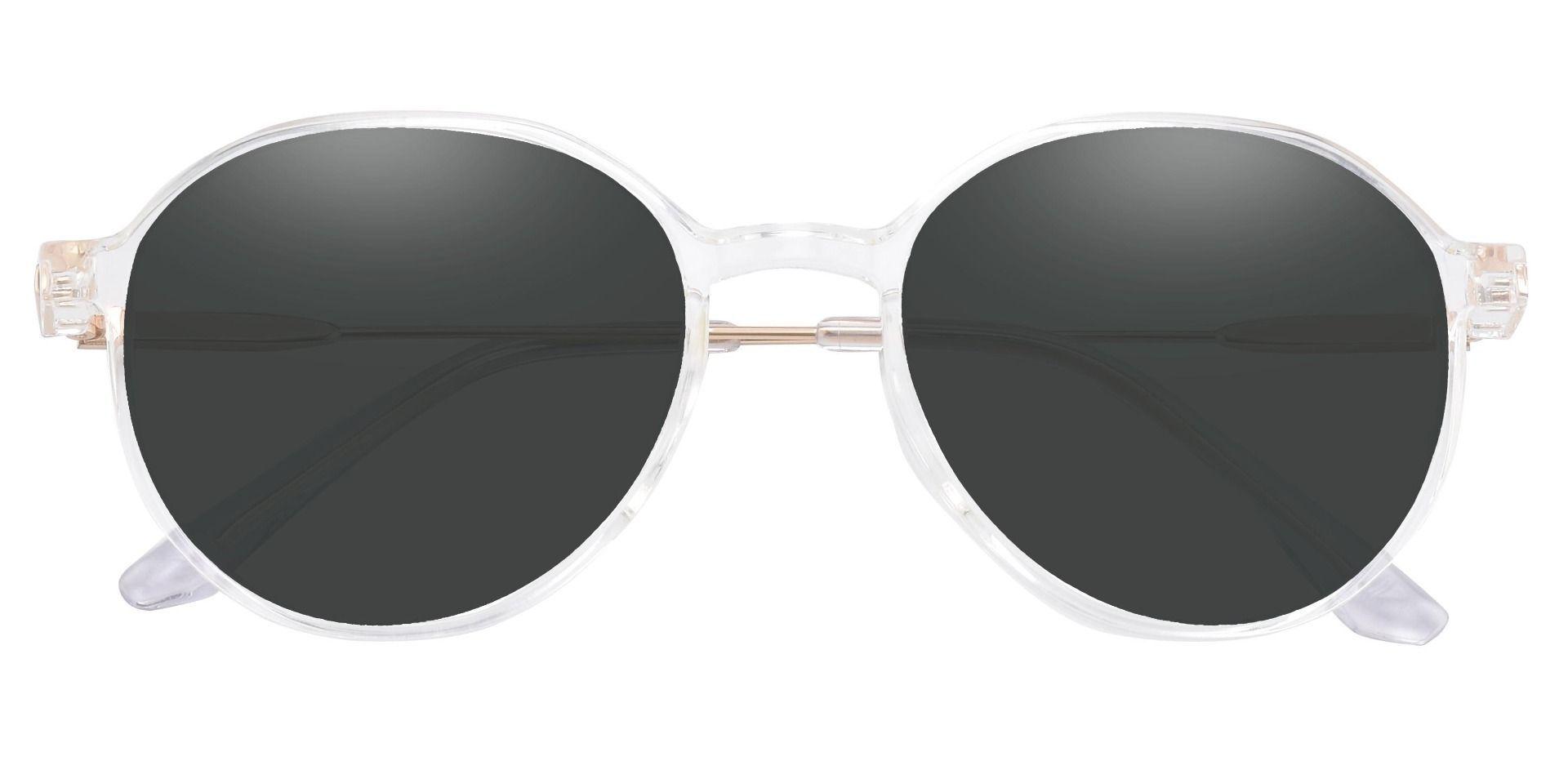 Daytona Geometric Lined Bifocal Sunglasses - Clear Frame With Gray Lenses