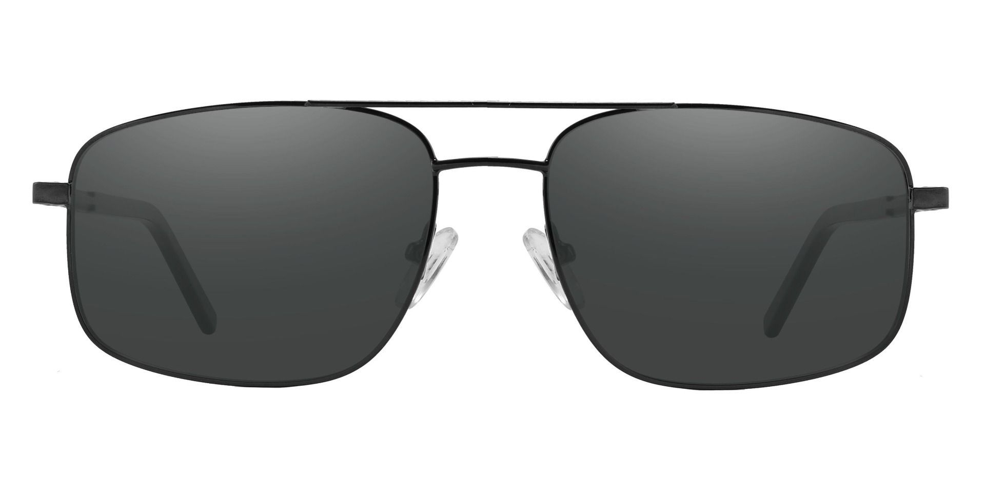 Davenport Aviator Prescription Sunglasses - Black Frame With Gray Lenses