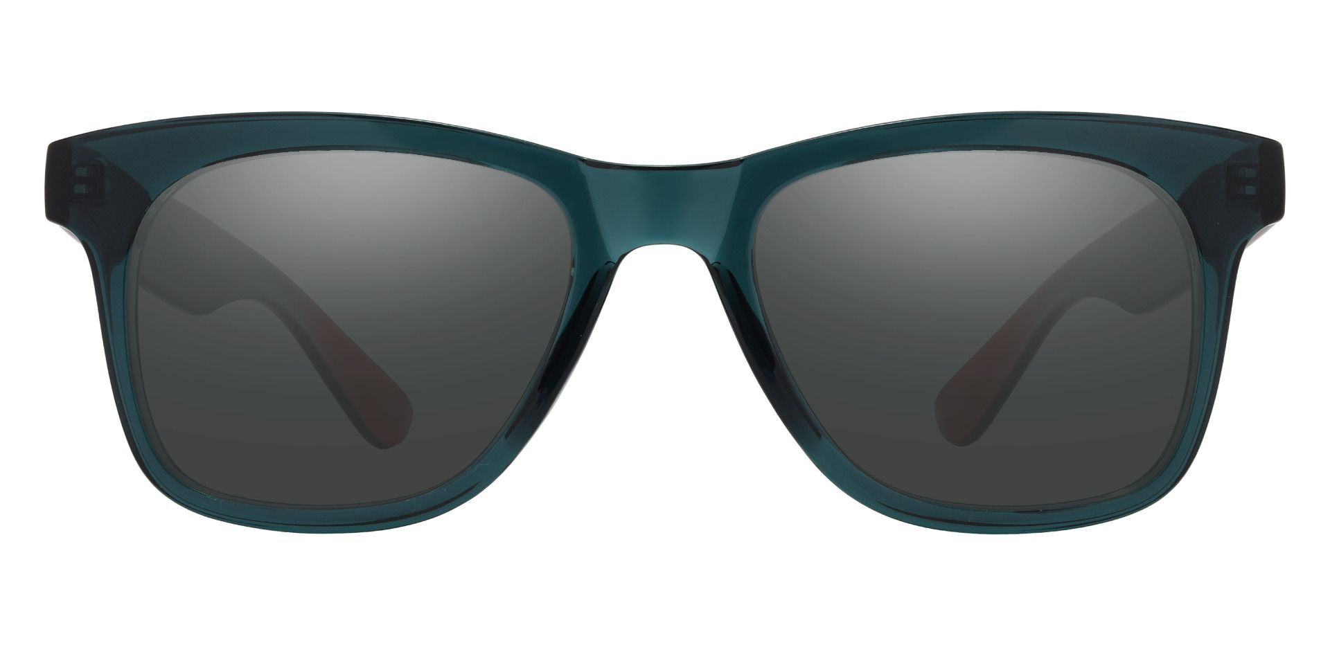 Hurley Square Prescription Sunglasses - Green Frame With Gray Lenses