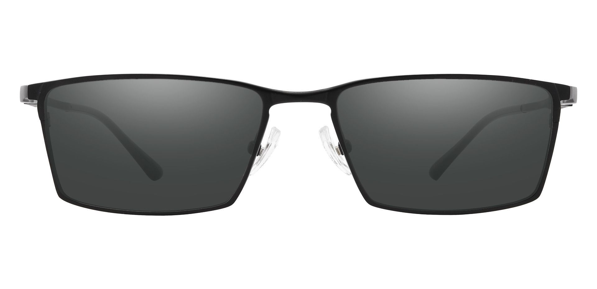 Elmore Rectangle Prescription Sunglasses - Black Frame With Gray Lenses
