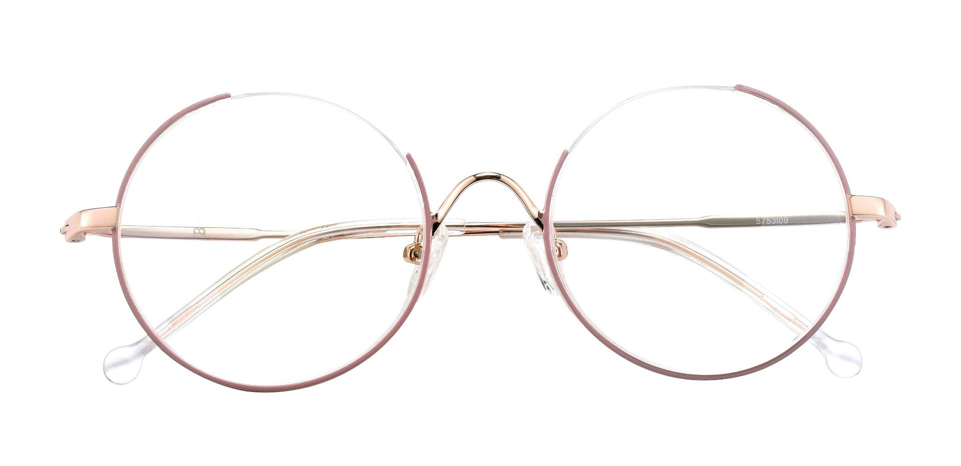 Geller Round Prescription Glasses - Pink