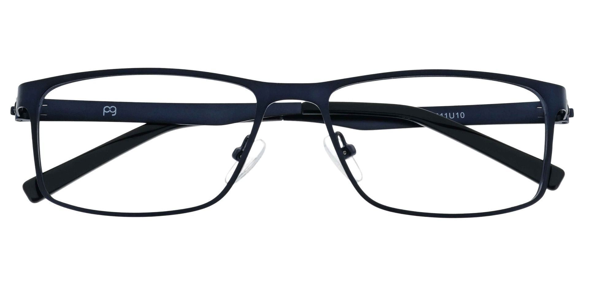 Knoll Rectangle Prescription Glasses - Blue