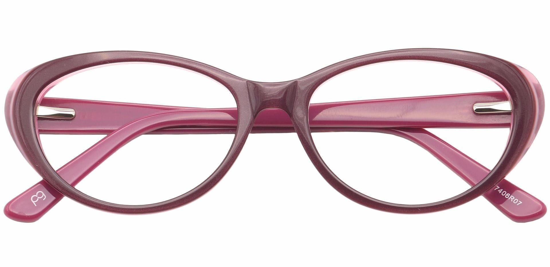 Asta Cat-Eye Lined Bifocal Glasses - Red