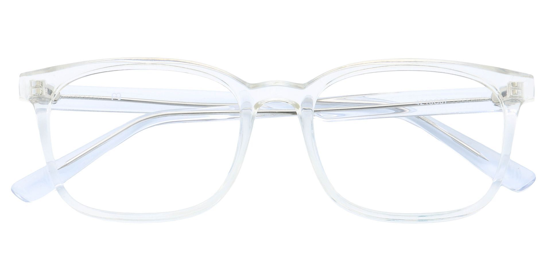 Windsor Rectangle Prescription Glasses - Crystal