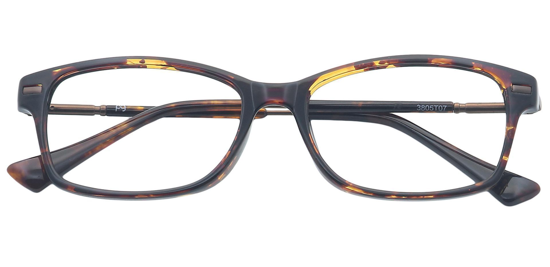 Dixie Rectangle Prescription Glasses - Tortoise