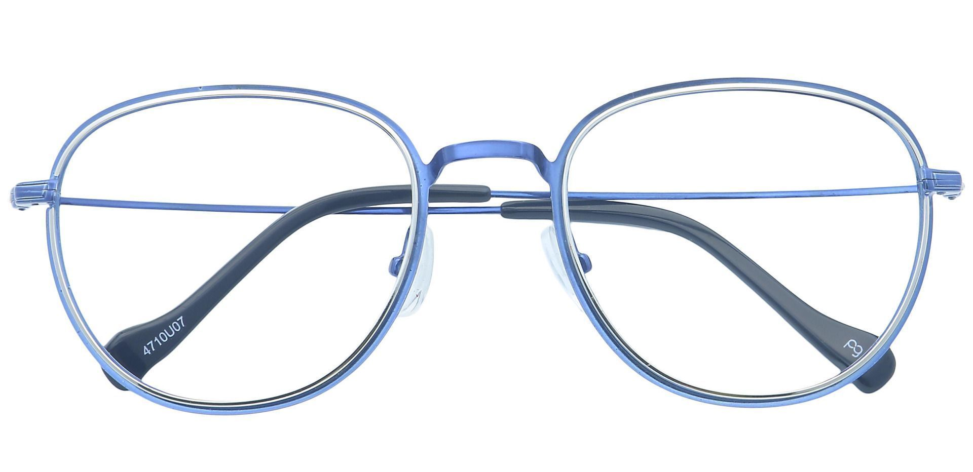 Foster Oval Progressive Glasses - Blue