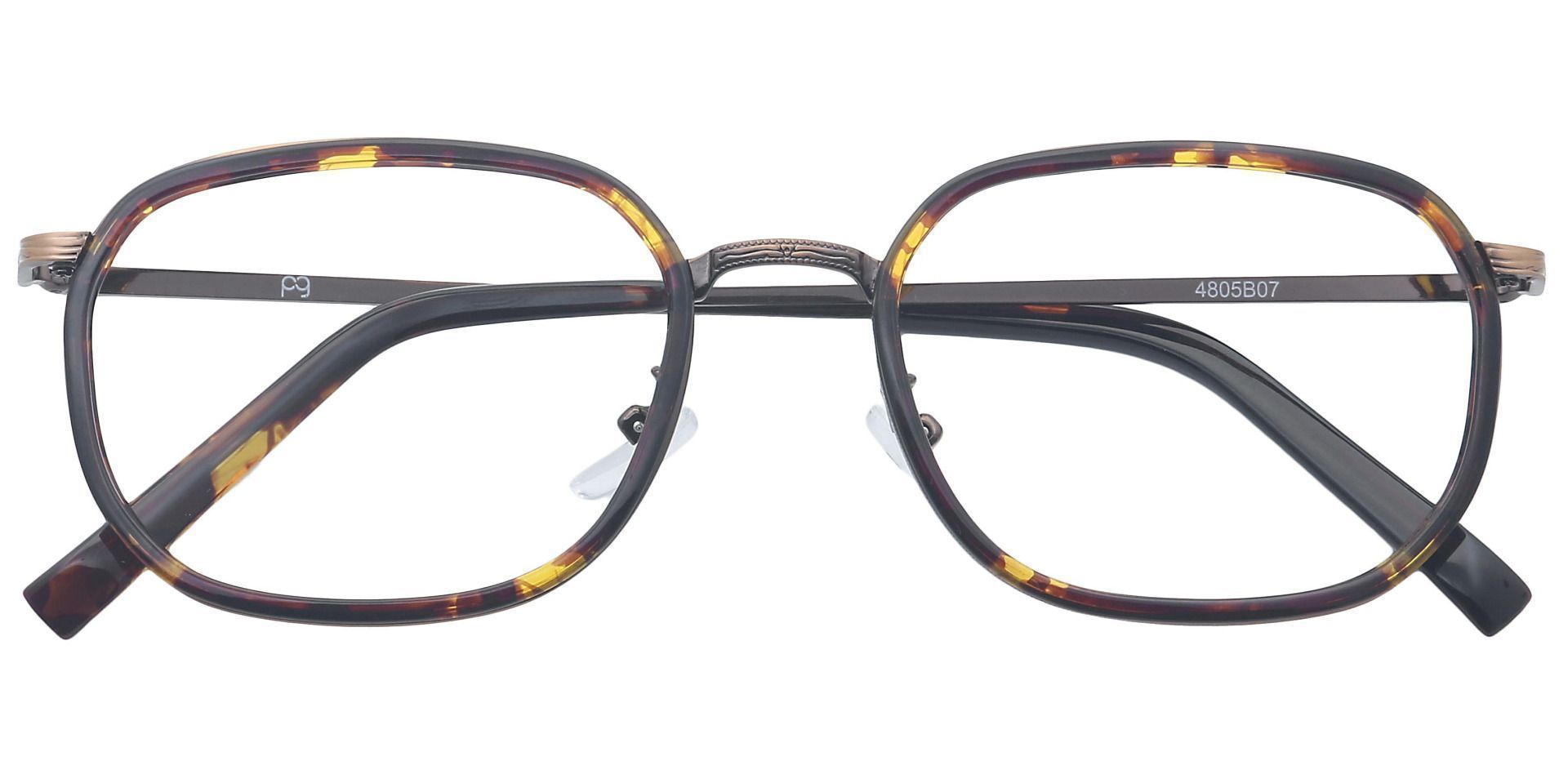 Harlem Oval Non-Rx Glasses - Brown