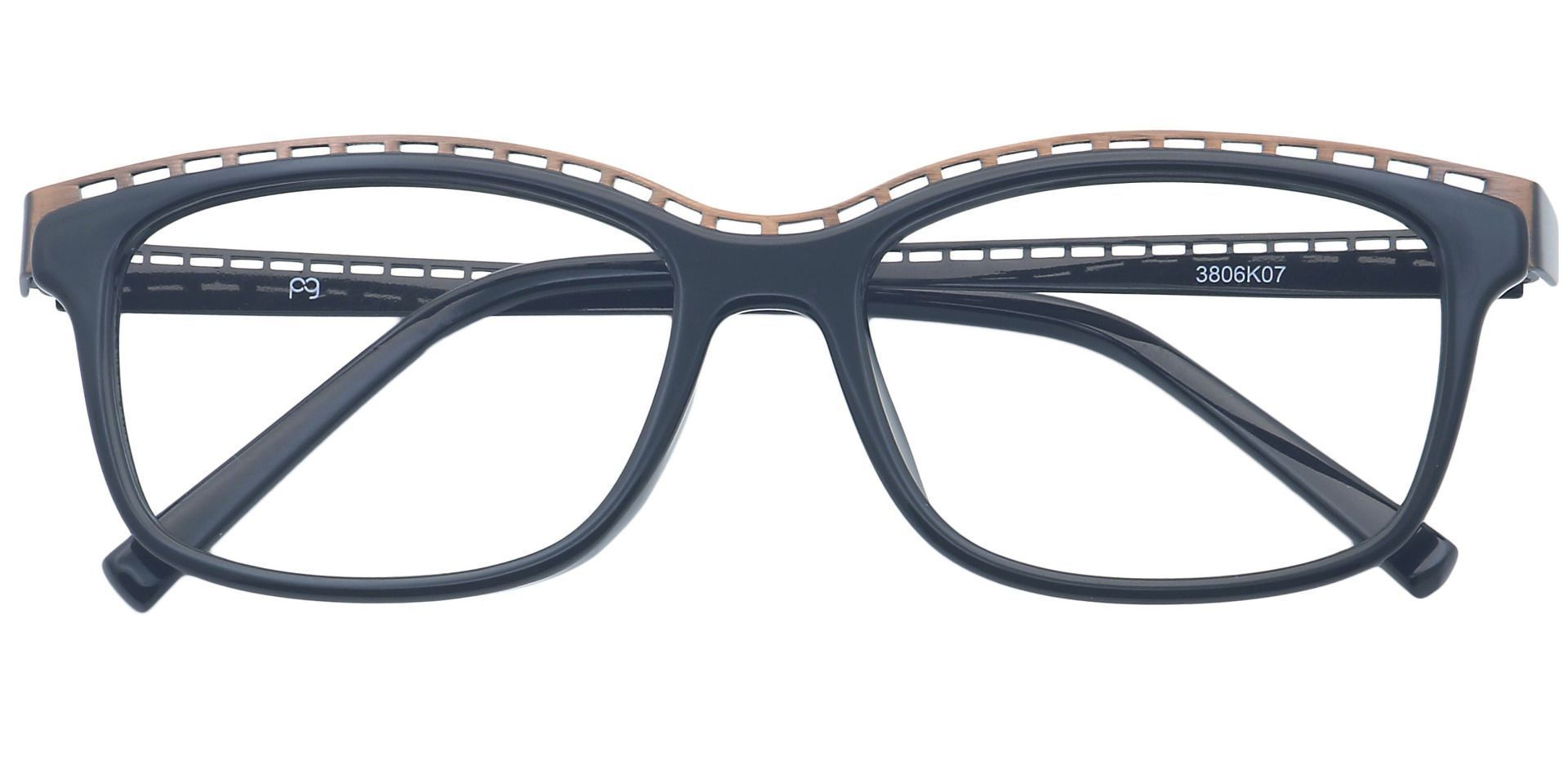 Richie Rectangle Prescription Glasses - Black