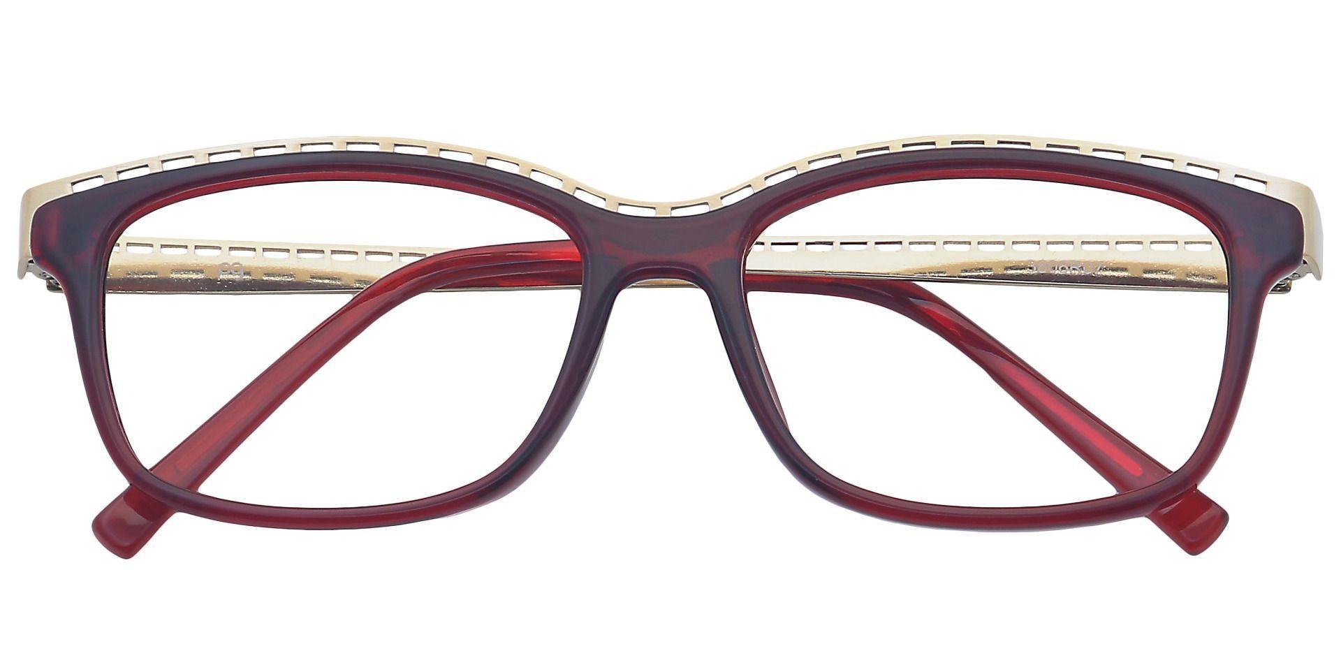 Richie Rectangle Prescription Glasses - Red