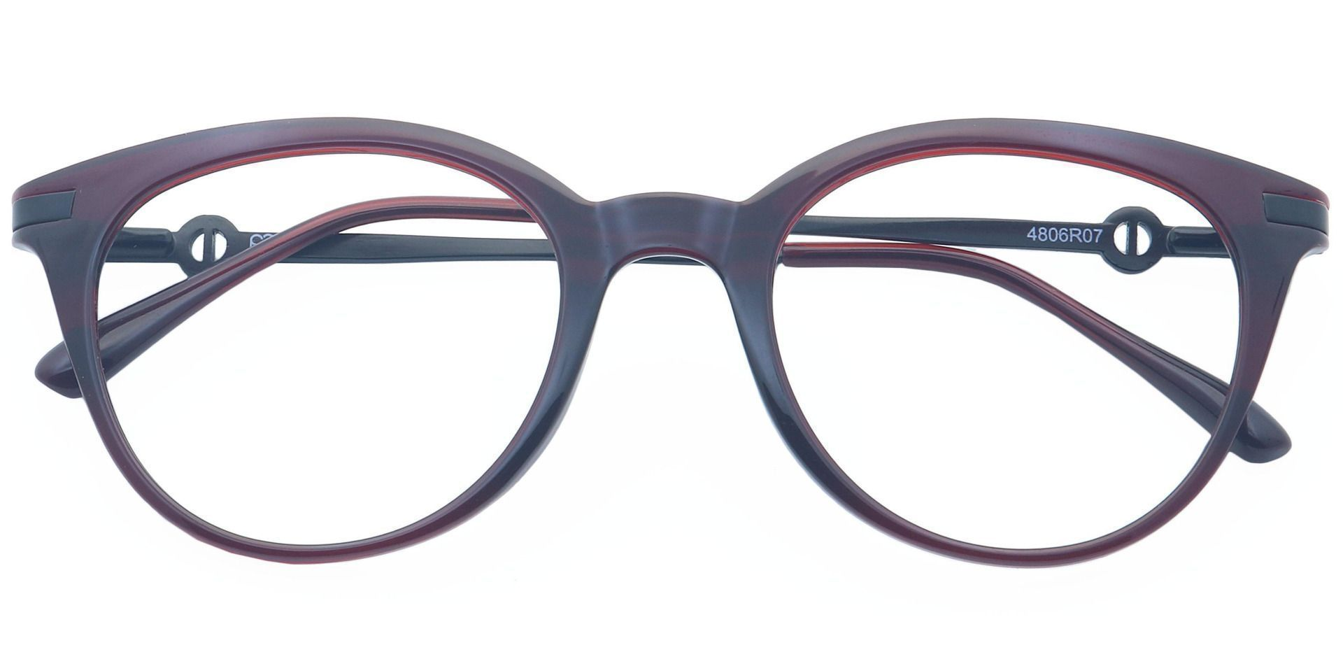 Penny Oval Prescription Glasses - Red