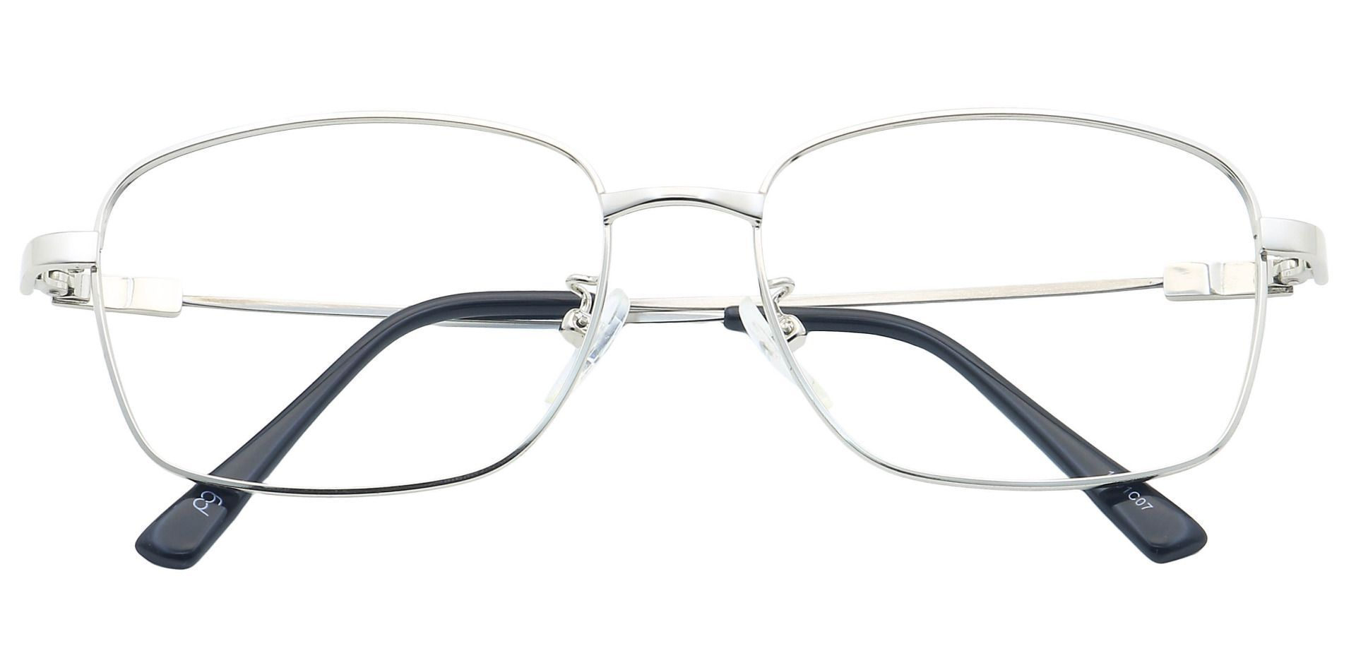 Sidley Square Blue Light Blocking Glasses - Clear