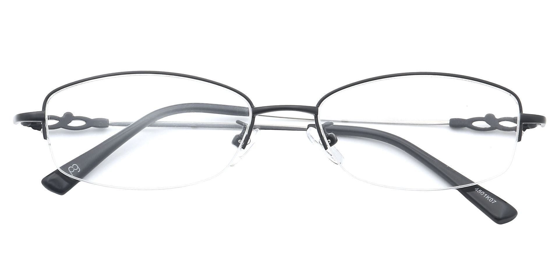 Meadowsweet Oval Eyeglasses Frame - Black