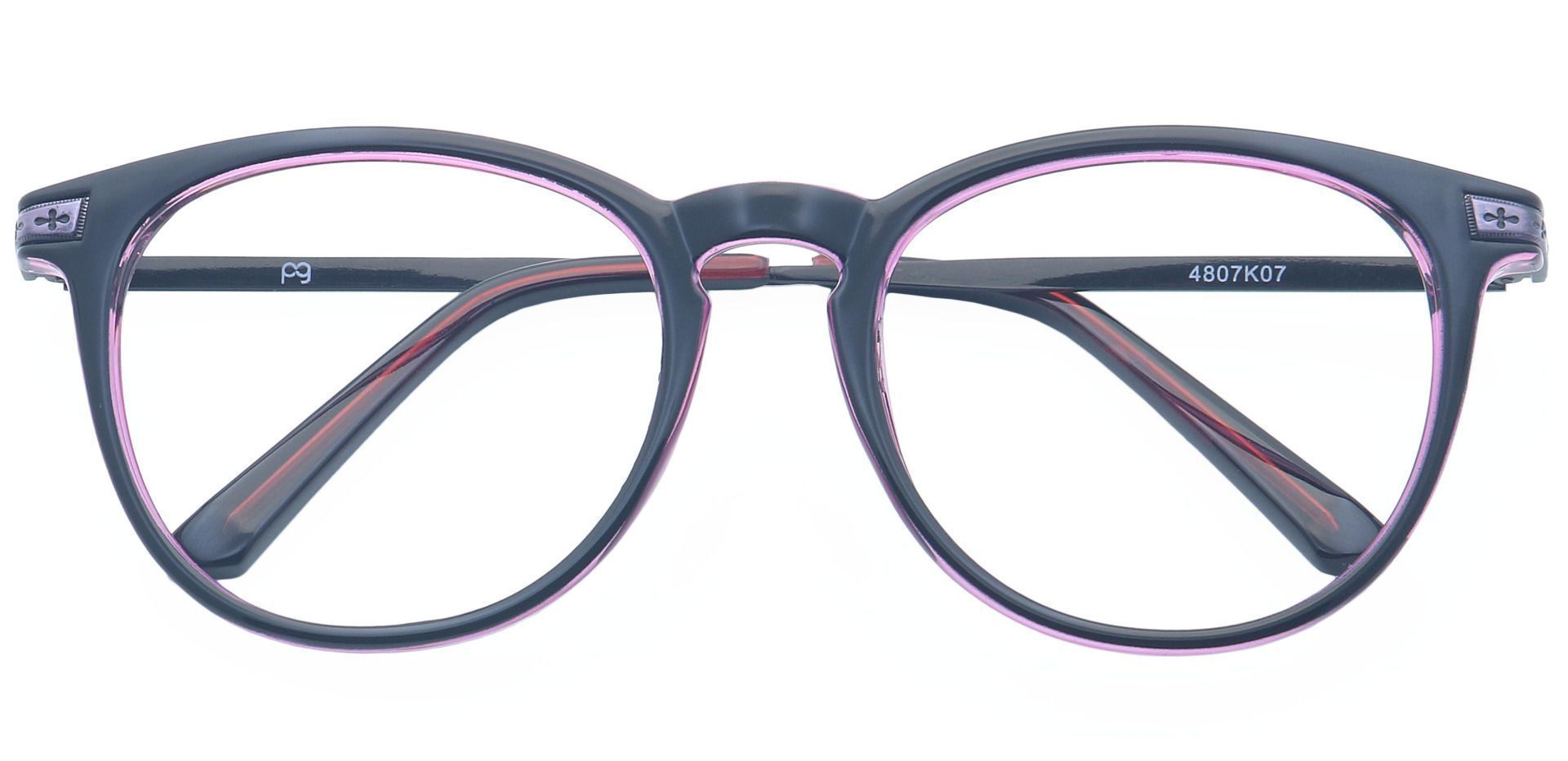 Honey Oval Prescription Glasses - Black