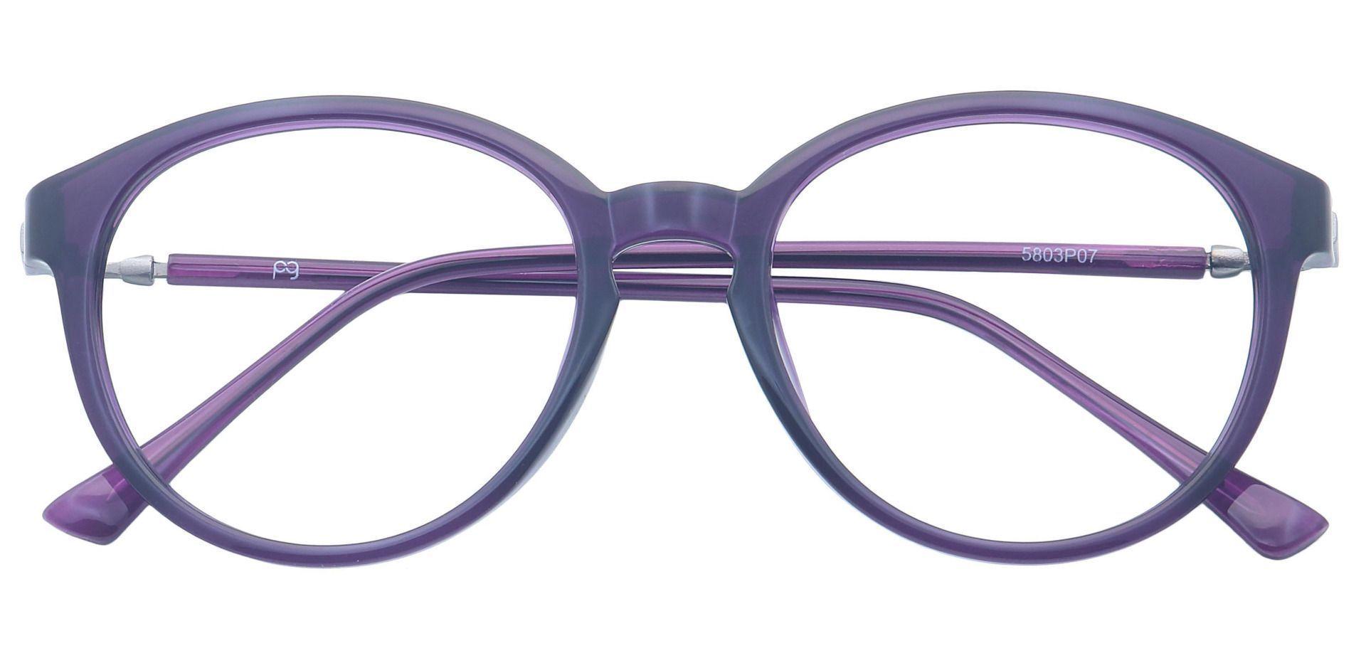 Asia Round Prescription Glasses - Purple