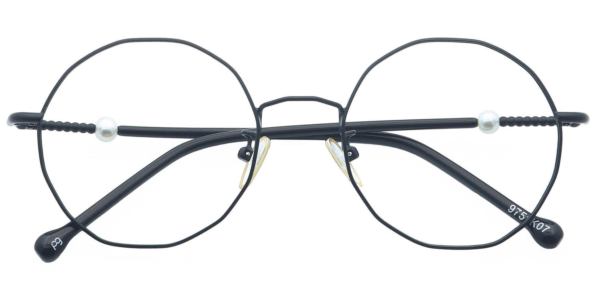 Stella Round Eyeglasses Frame - Black