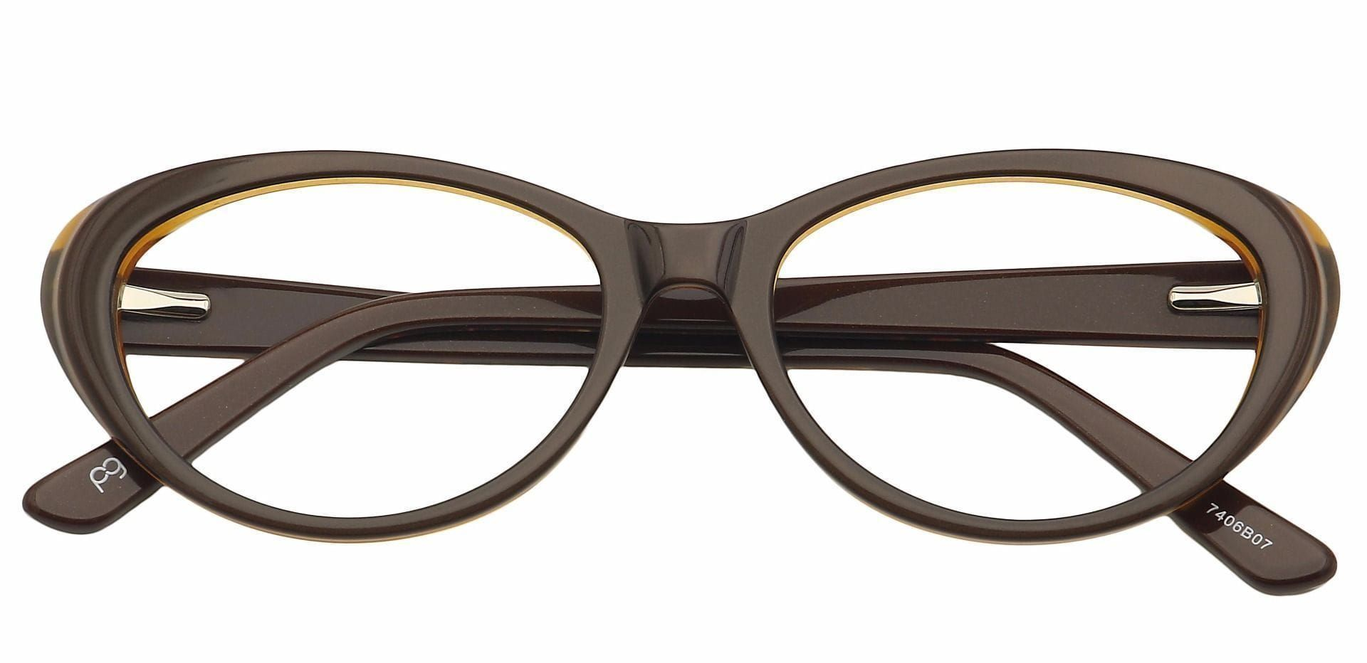 Asta Cat-Eye Prescription Glasses - Brown
