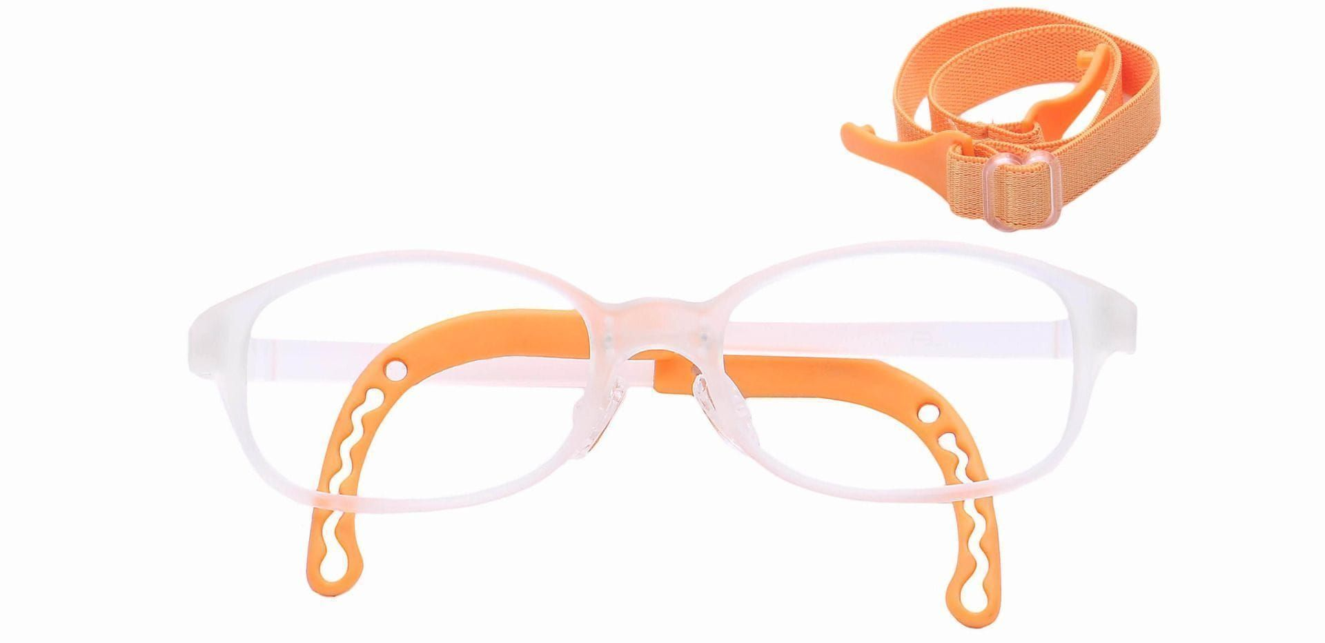 Dainty Rectangle Eyeglasses Frame - Orange