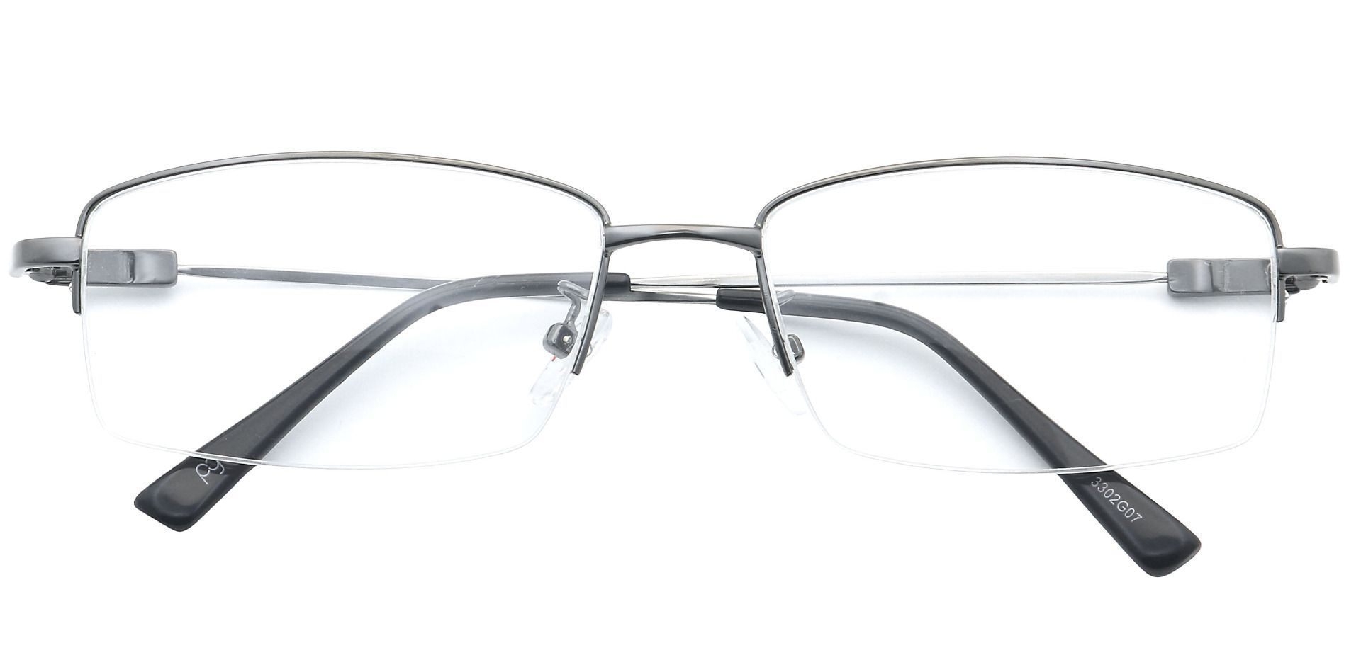 Catalyst Rectangle Lined Bifocal Glasses - Gray