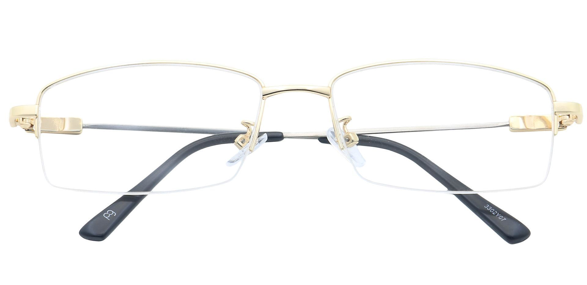 Catalyst Rectangle Lined Bifocal Glasses - Yellow