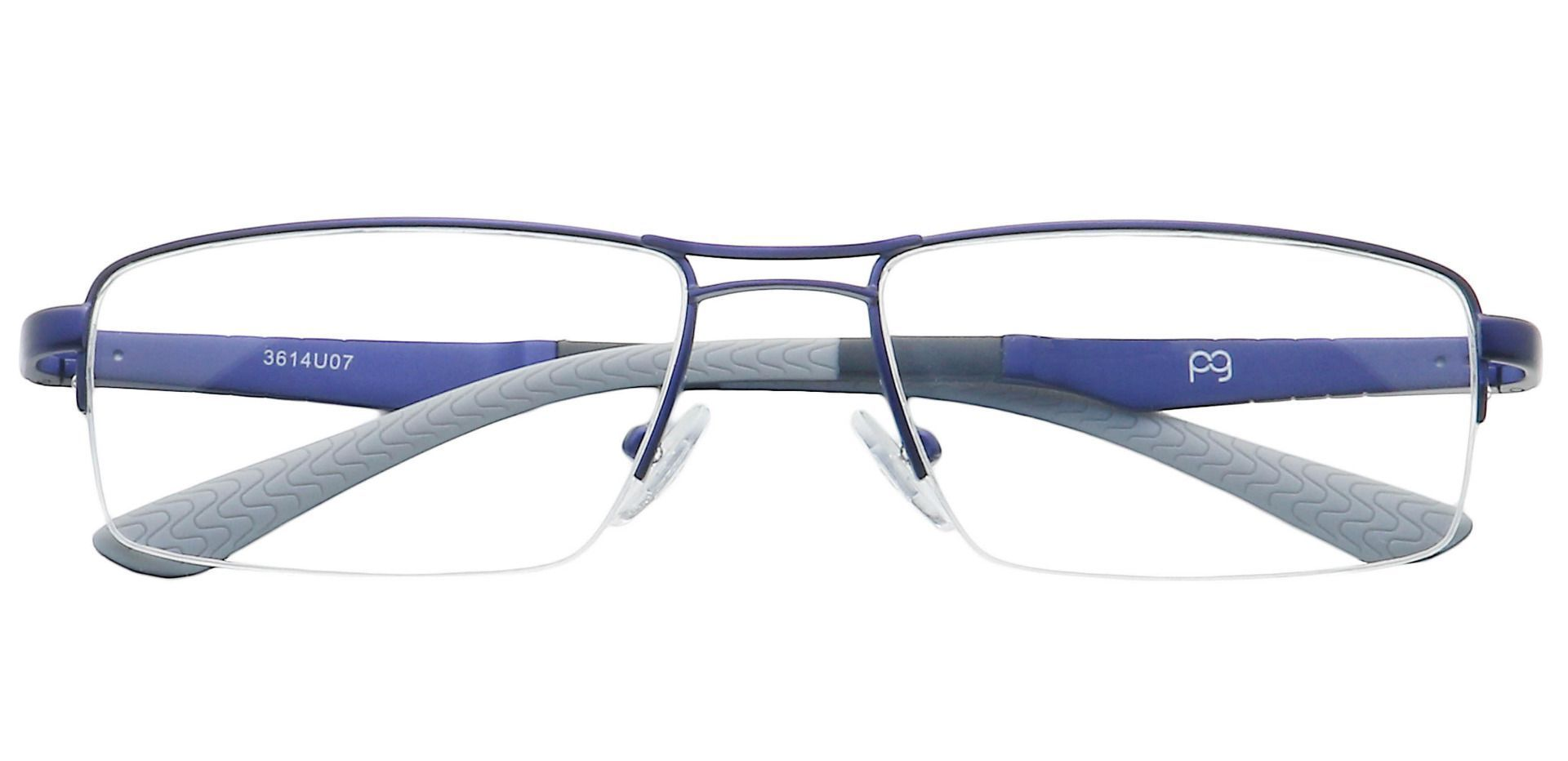 Willow Rectangle Blue Light Blocking Glasses - Blue