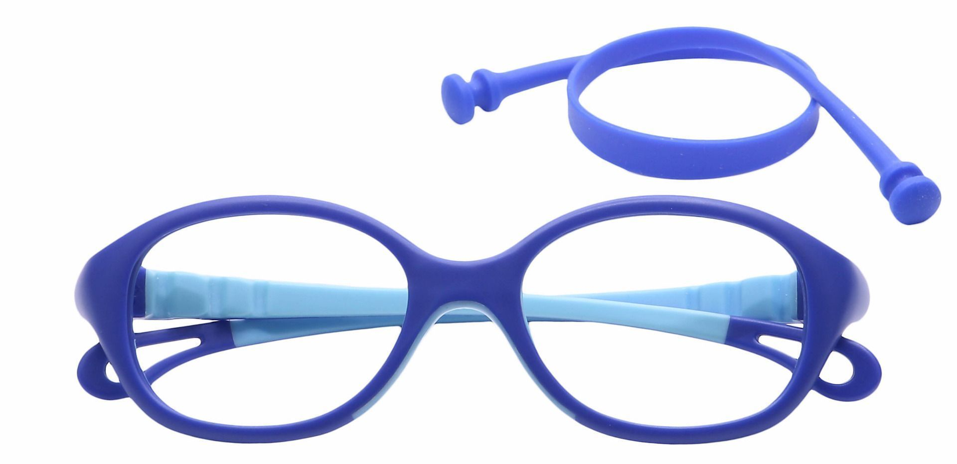 Quirk Oval Single Vision Glasses - Blue