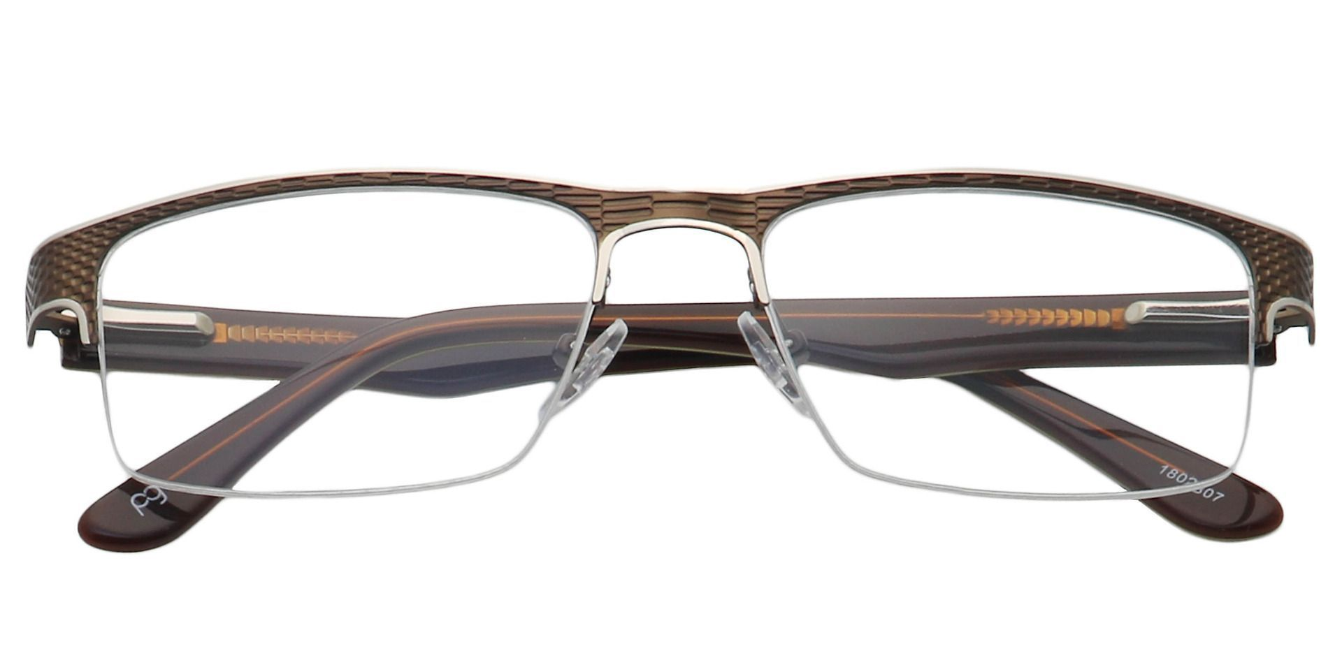 Executive Square Progressive Glasses - Brown