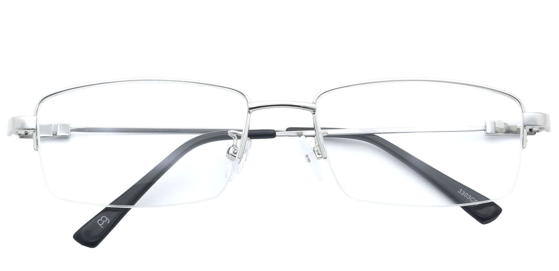 Zander Rectangle Prescription Glasses - Silver