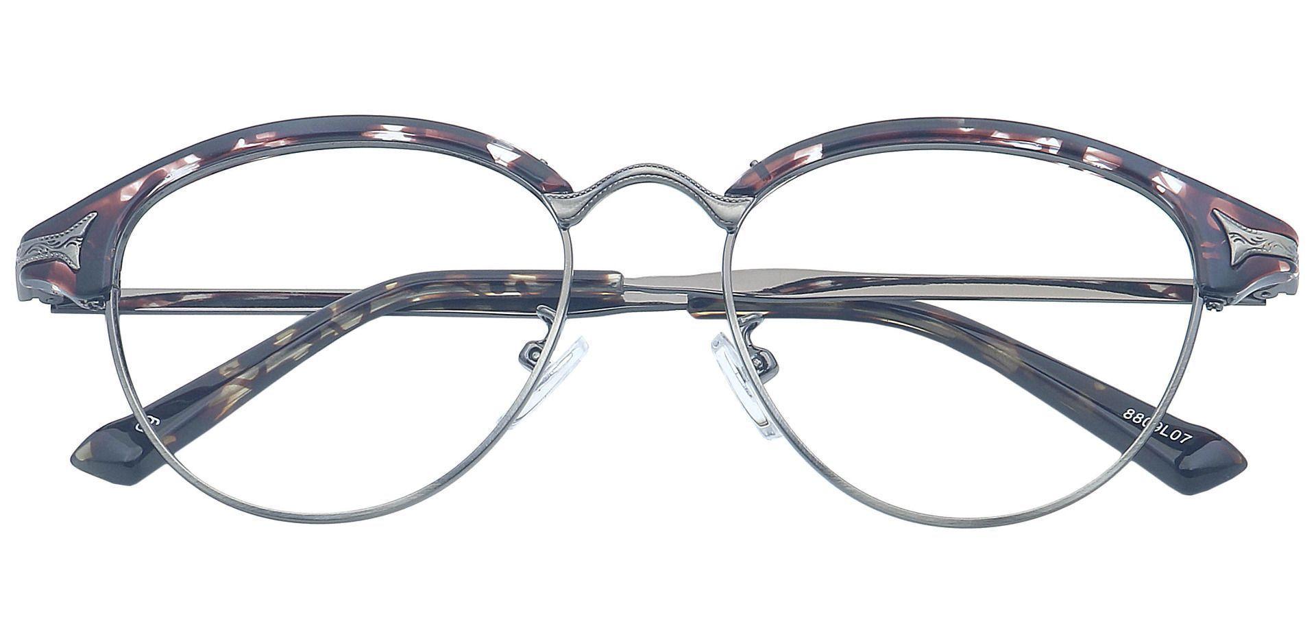 Regal Browline Single Vision Glasses - Leopard