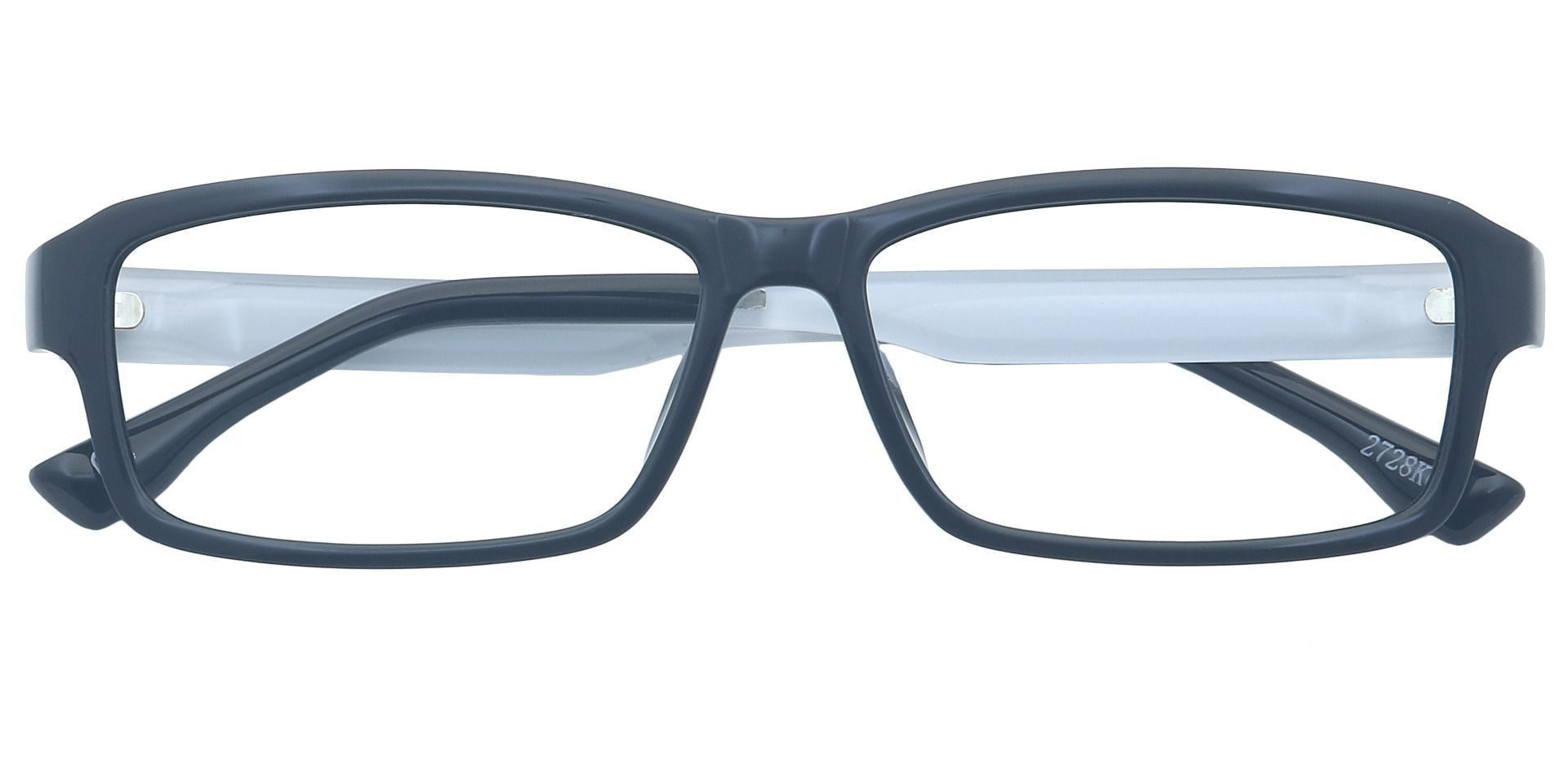 Denim Rectangle Prescription Glasses - Black