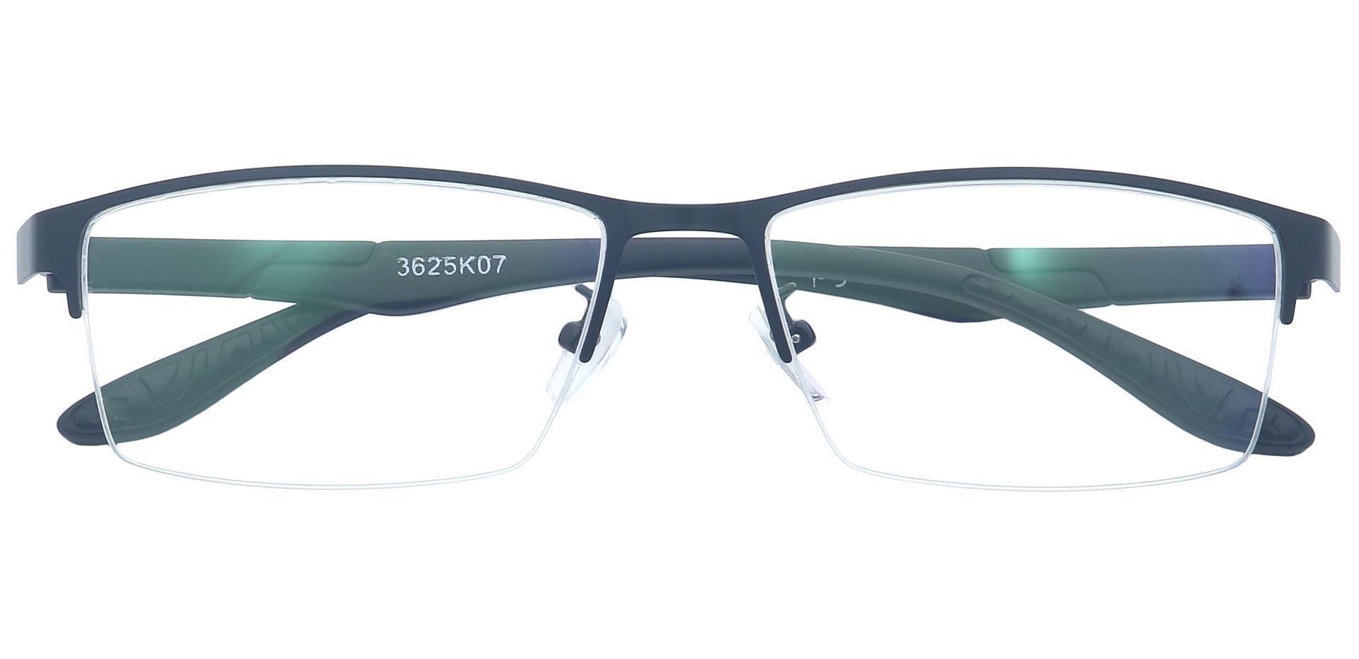 Ruben Rectangle Non-Rx Glasses - Black