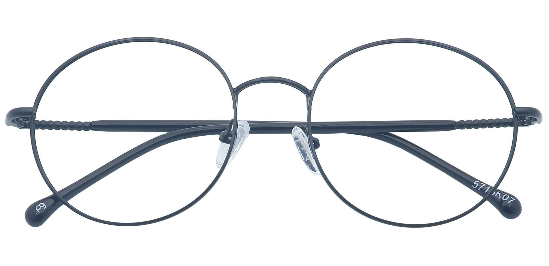 Tien Round Prescription Glasses - Black