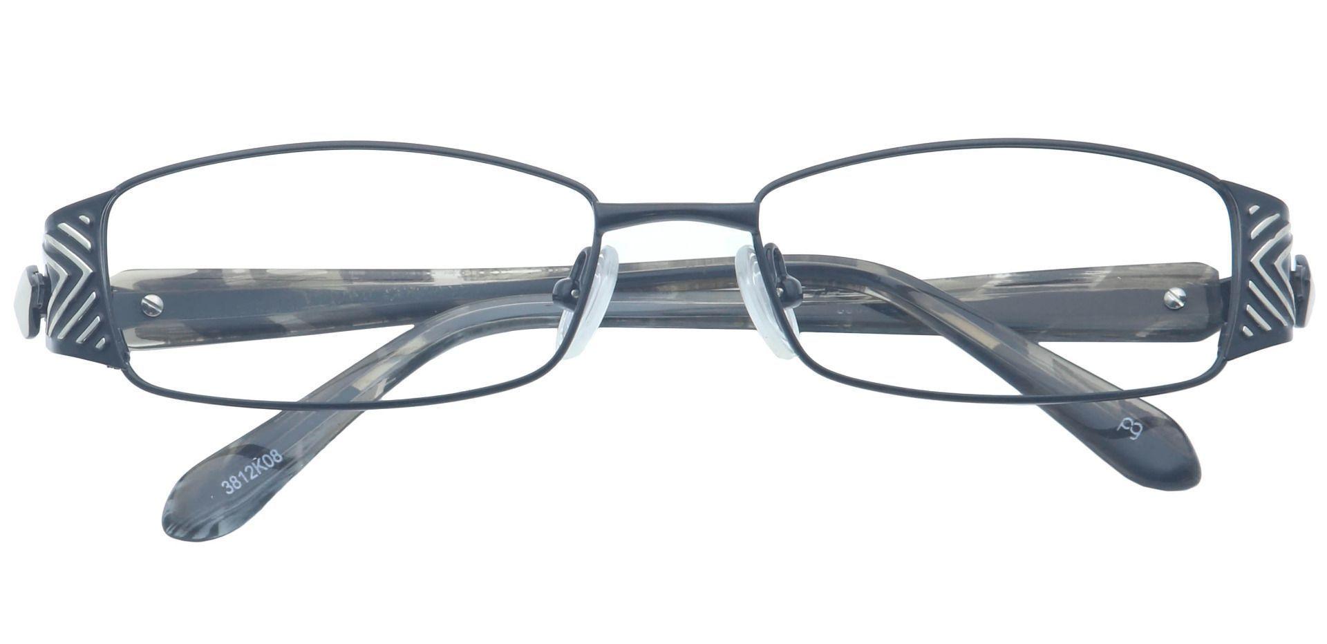Ashlee Rectangle Single Vision Glasses - Black