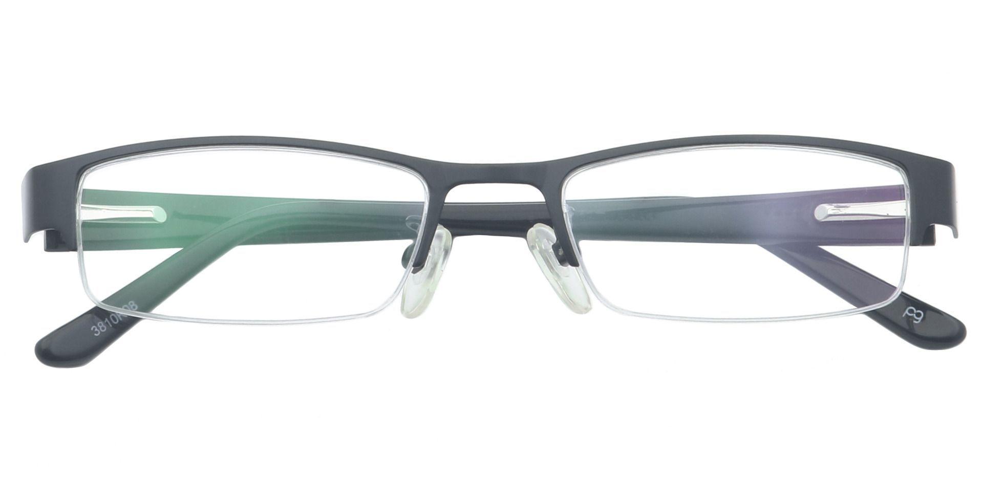 Erin Rectangle Single Vision Glasses - Black