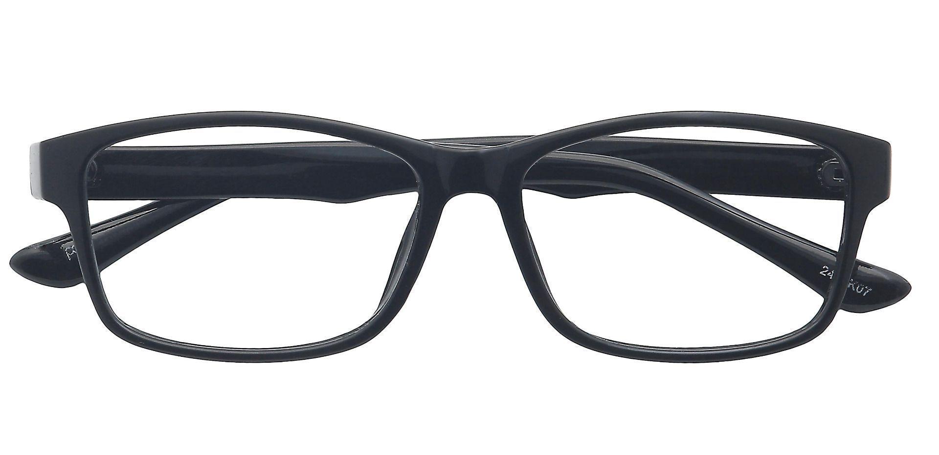 Ian Rectangle Prescription Glasses - Black