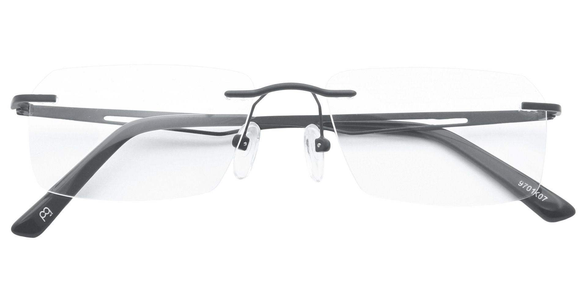 Finesse Rimless Prescription Glasses - Black